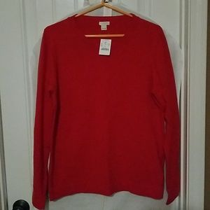 J Crew Red Sweater Size L